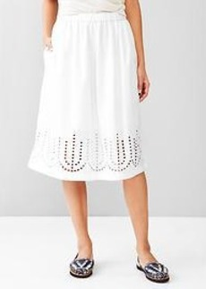 Laser-cut midi skirt