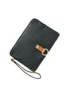 Leather buckle clutch