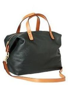 Leather satchel crossbody