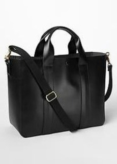 Leather tote crossbody