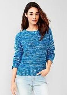 Marled crew sweater
