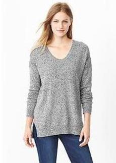 Marled U-neck sweater