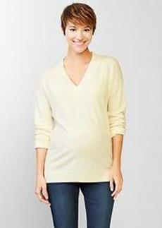 Marled V-neck pullover sweater