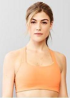 Medium impact T-back sports bra