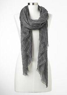 Metallic checkered scarf