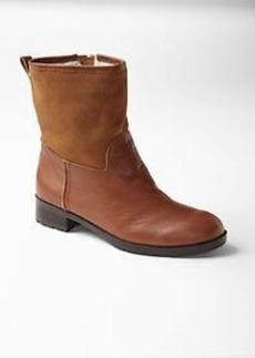 Mix-media shearling boots