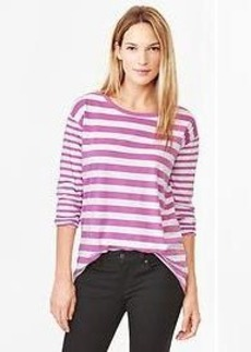 Mix-stripe tee