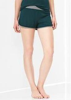 Modal contrast-waist shorts