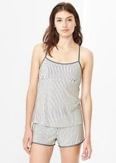 Modal stripe cross-back cami