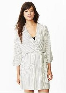 Modal stripe robe