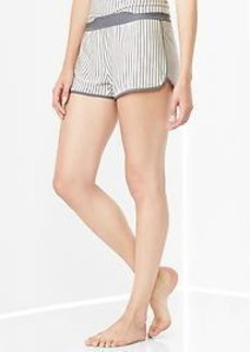 Modal stripe shorts