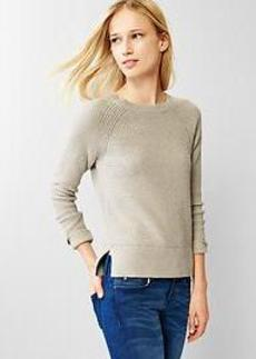 Moss-stitch raglan sweater