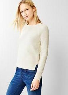 Moss-stitch raglan sweater