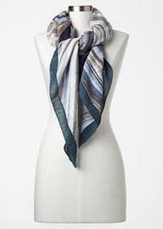 Painterly stripe scarf
