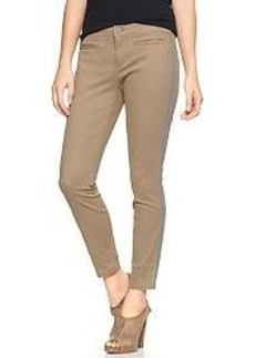 Piped super skinny skimmer khakis