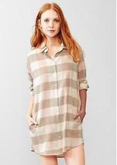 Plaid brushed cotton nightshirt