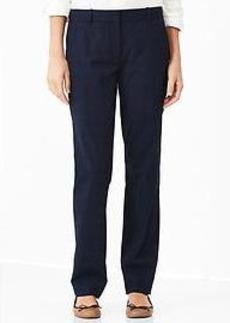 Plaid true straight pants