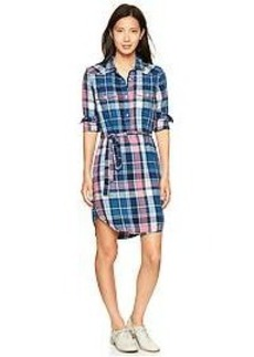 Plaid western shirtdress