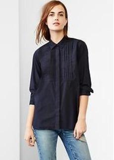 Pleated bib shirt