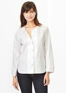 Pleated oxford shirt