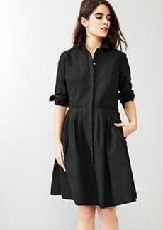 Pleated shirtdress