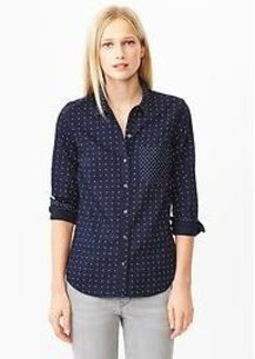 Polka dot oxford shirt
