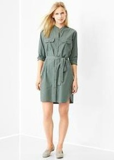 Poplin utility shirtdress