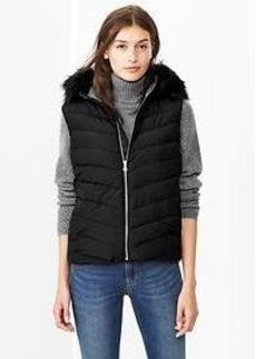 PrimaLoft&#174 Luxe fur-trim puffer vest