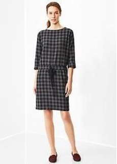 Printed boatneck dress
