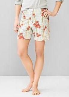 Printed french terry shorts