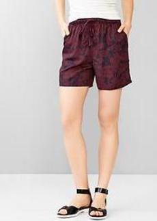 Printed jogger shorts