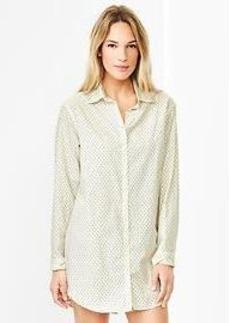 Printed poplin nightshirt