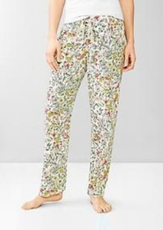 Printed poplin pants