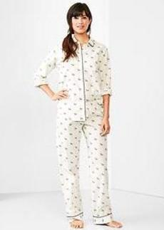 Printed poplin sleep set