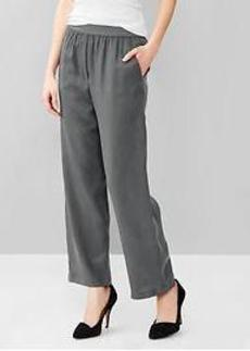 Pull-on wide leg pants