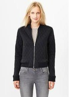 Quilted knit bomber