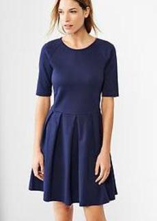 Raglan fit & flare knit dress