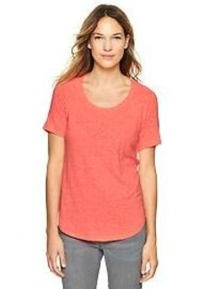 Raglan shirttail tee
