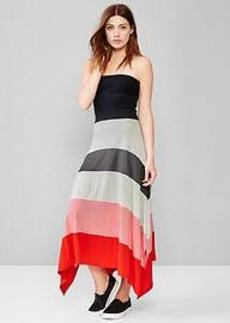 Rainbow stripe 4-in-1 trapeze dress