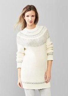 Reverse Fair Isle tunic sweater