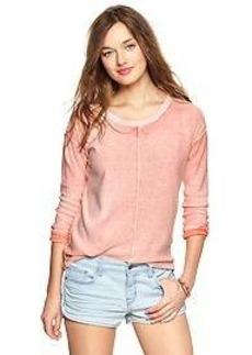 Reverse print sweater