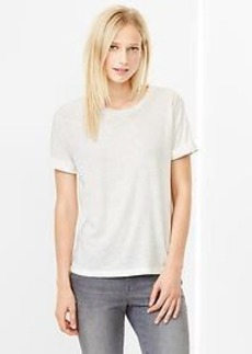 Roll-sleeve tee