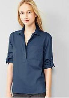 Sateen roll-sleeve popover