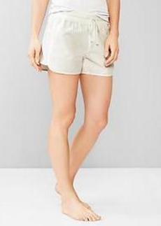 Seersucker lounge shorts