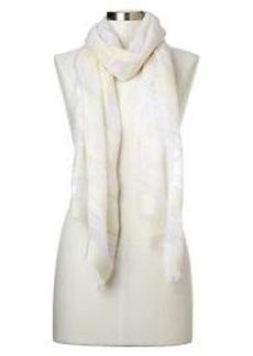 Sheer stripe scarf
