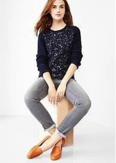 Shrunken metallic sweater
