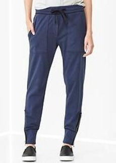 Side-zip track pants