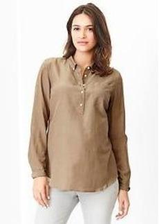 Silk popover fitted boyfriend shirt