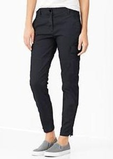 Skinny mini cargo khakis
