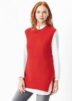 Sleeveless sweater tunic